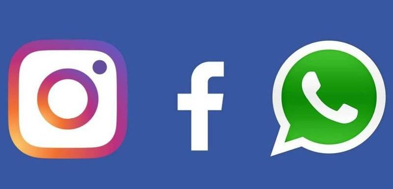 Instagram WhatsApp Facebook