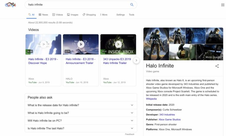 google video games ricerca 2