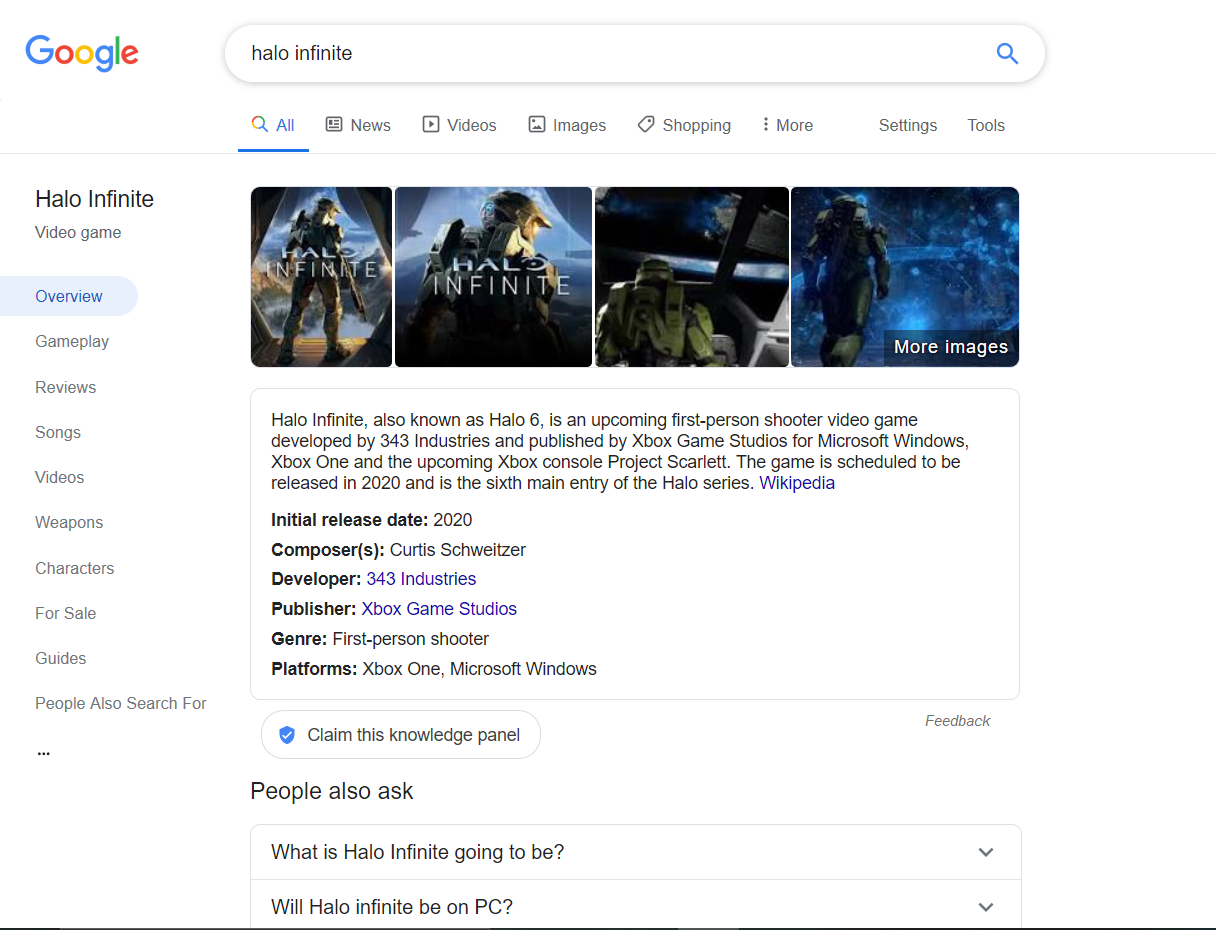 google video games ricerca
