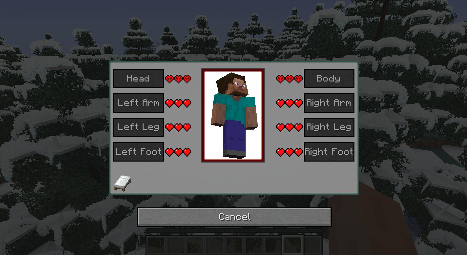 Le mini-barre della salute in RLCraft.