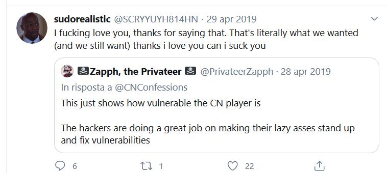 Giudizi dell'hacker relativi alla sicurezza di Cartoon Network