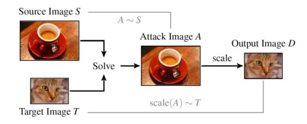 Esempio di AI Image-Scaling Adversarial Attack
