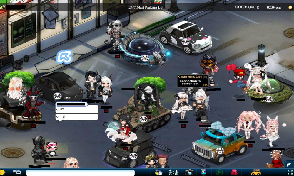 Screenshot del social Gaia Online